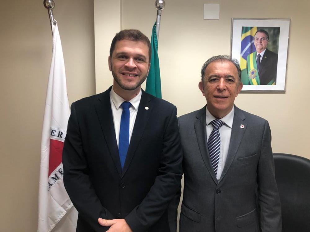 Deputado Estadual Heli Andrade e presidente estadual do PSL, deputado federal Charles Evangelista - FOTO: Divulgação