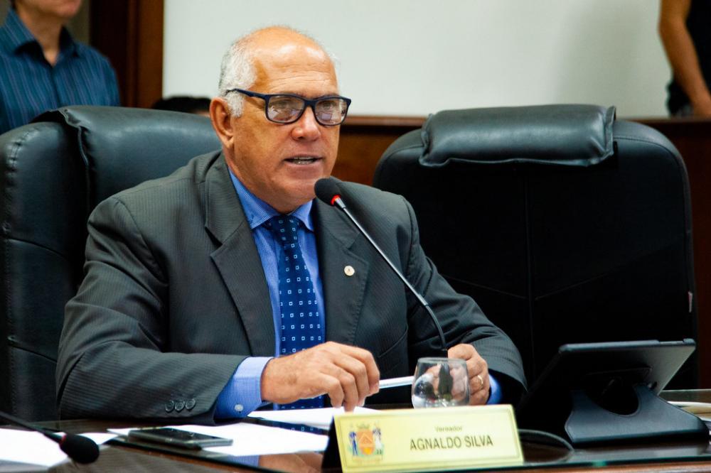 Vereador Agnaldo Silva que sugere a criação do Cartão Cidadão de Uberaba - Foto: Rodrigo Garcia/CMU