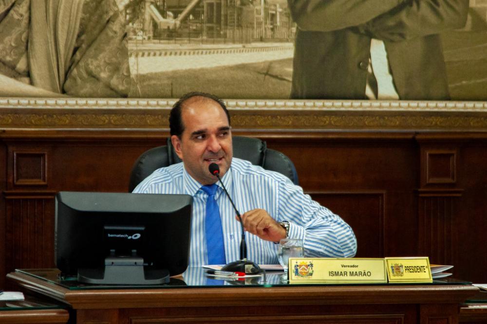 O presidente do Legislativo, Ismar Marão, apoia iniciativa cultural - Foto: Rodrigo Garcia/CMU