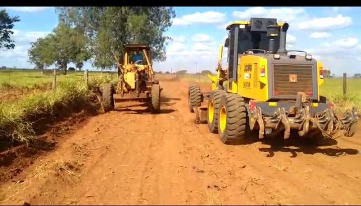 Sagri manteve nesta semana três frentes de recuperação de estradas - Foto: Divulgação/PMU