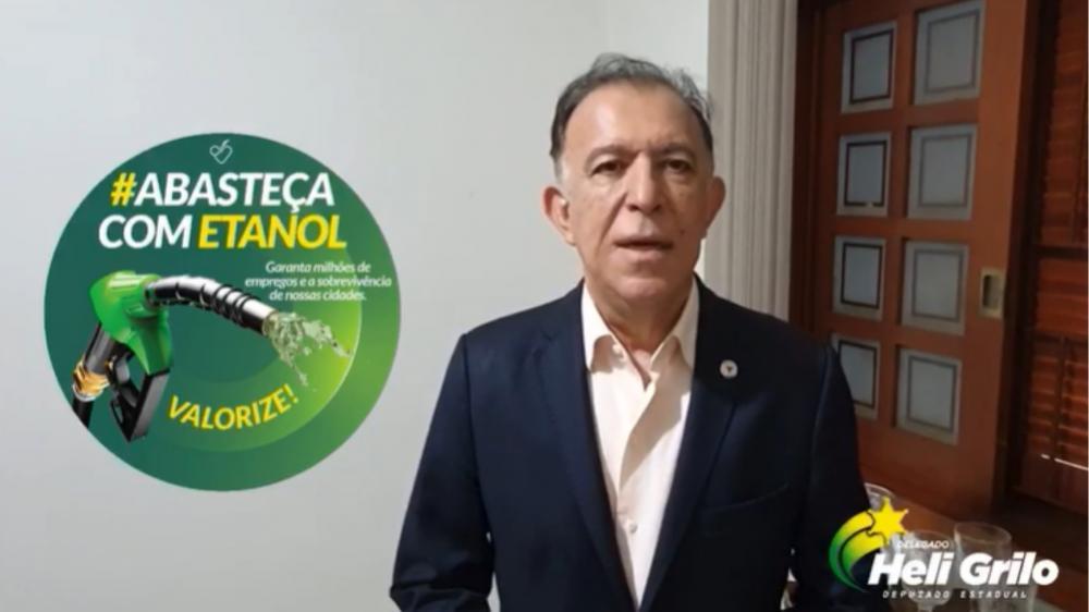 Deputado estadual Heli Grilo adere à campanha #abasteçacometanol - Foto: Divulgação