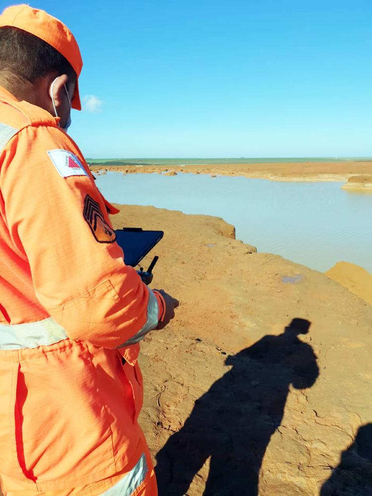 Rompimento da barragem ocorreu no fim de semana - Foto: Divulgação/Corpo de Bombeiros