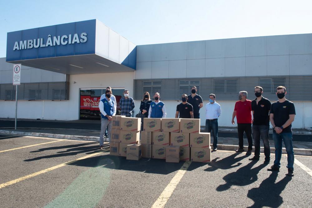 EXP Produções faz doação de luvas, toucas, aventais, detergentes e máscaras ao Hospital Regional José Alencar - Foto: André Santos/PMU
