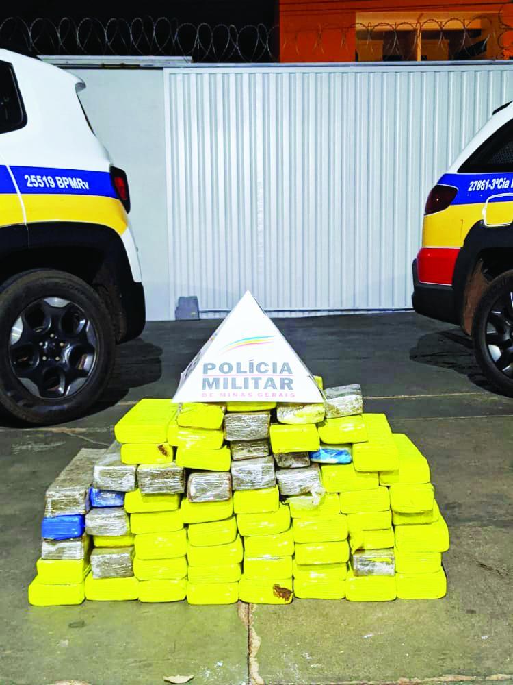 Drogas foram apreendidas em Iturama - Foto: Divulgação/PM