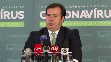 Rodrigo Maia fala sobre a Medida Provisória 984, que altera regras de transmissão - Foto: Divulgação