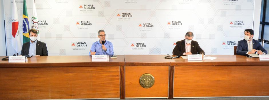 Zema destacou que o estado registrou, na quarta-feira (17), a segunda pior marca de óbitos - Foto: Pedro Gontijo/Imprensa MG