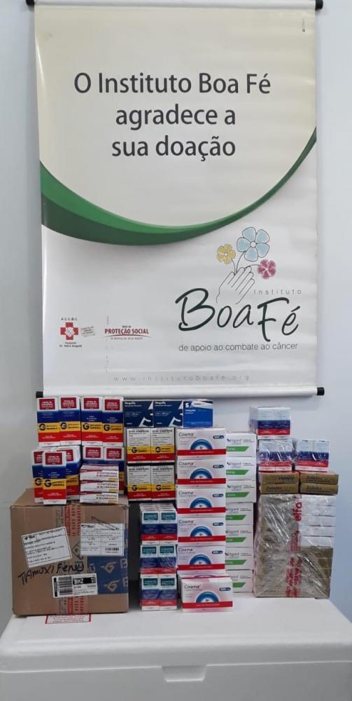 A entrega da sexta doação consecutiva pelo Instituto Boa Fé e ao hospital corresponde a quase R$ 50 mil