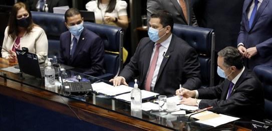 A sessão solene foi presidida pelo presidente do Congresso Nacional,Davi Alcolumbre - Foto: Divulgação