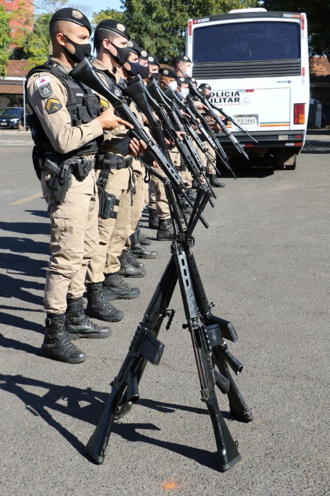 Policiais miliares participaram de treinamentos com o novo armamento - Foto: Sérgio Teixeira/PMMG