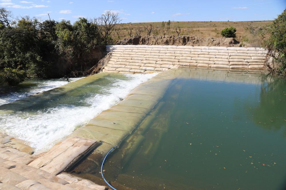 A transposição de bacia do rio Claro, nesta seca, ainda terá duas alternativas técnicas - Foto: Divulgação/Codau