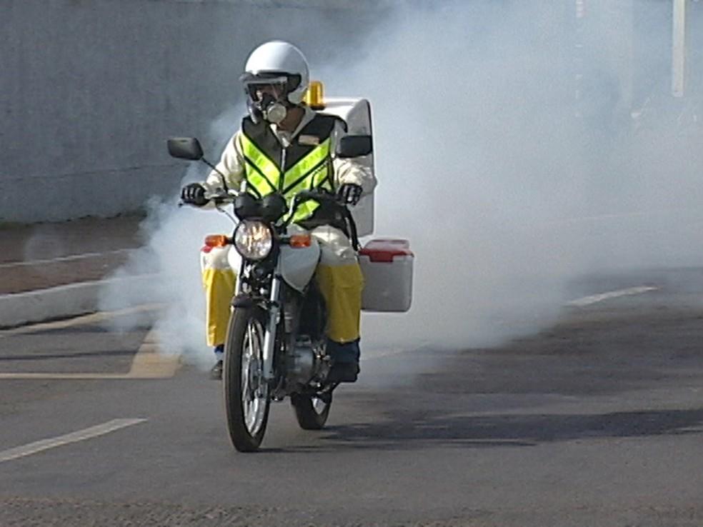 Continua o trabalho de nebulização com as motofogs nesta semana - Foto: Divulgação/G1