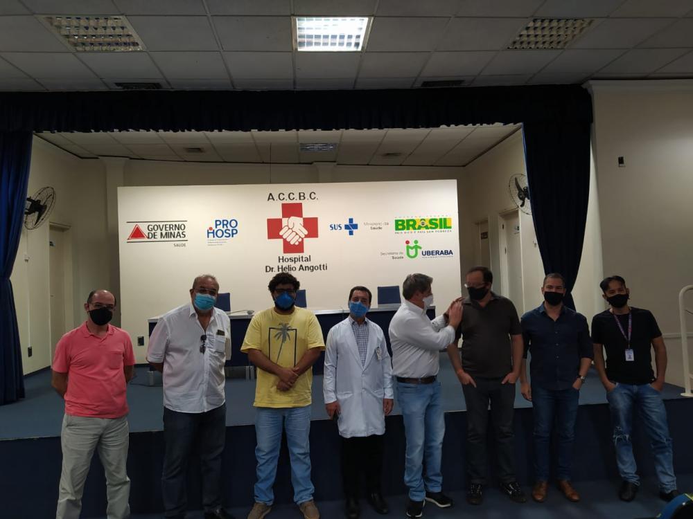 Deputado estadual Bartô esteve em Uberaba a convite do Superintendente Regional de Saúde, Maurício Ferreira - Foto: Divulgação