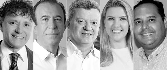 Tony Carlos, Heli Grilo, Lerin, Elisa Araújo e Leandro Souza participam do encontro - Foto: Divulgação