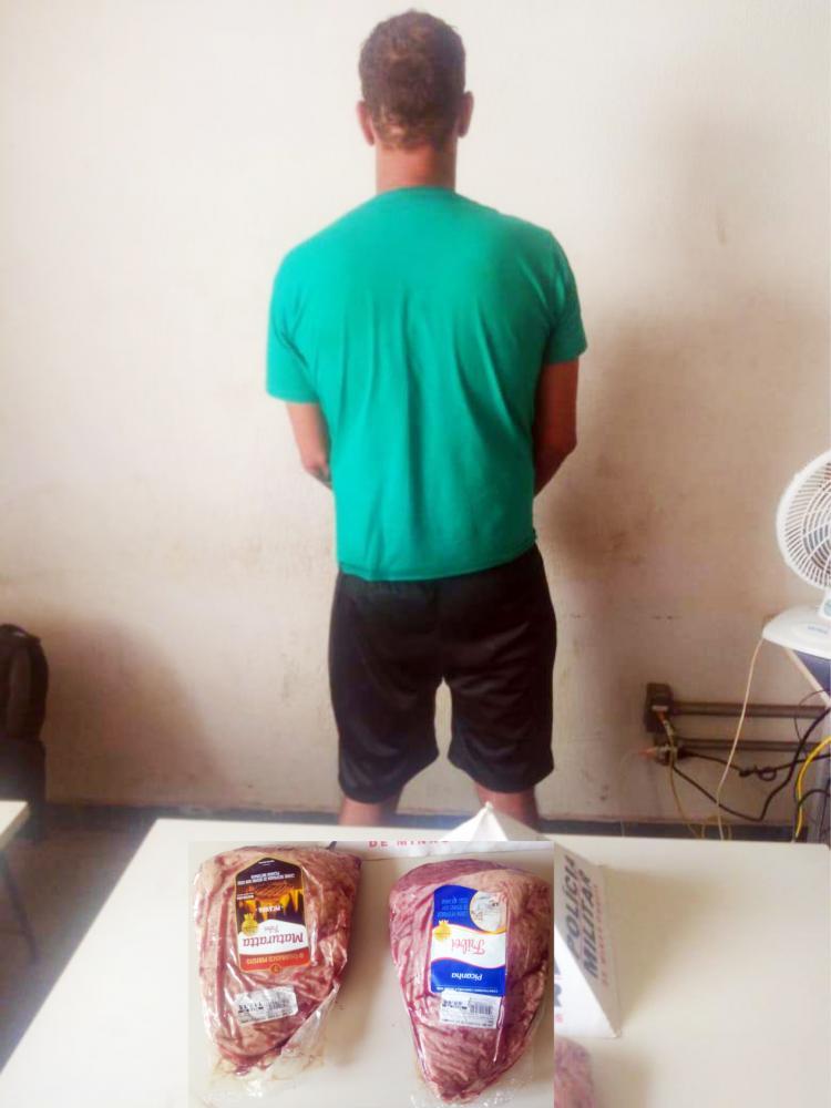 Carne nobre foi apreendida com o acusado - Foto: Juliano Carlos