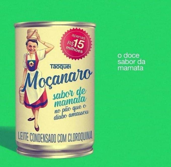 Internauta @MagnanimoPedro publicou no Twitter 15 milhões de reais em leite condensado. São os insumos da