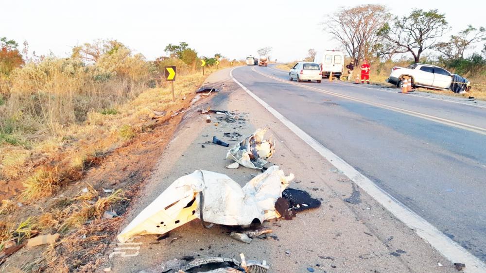 Vítima morreu na hora após a batida: acusados de saquear a carga foram presos pela PRF