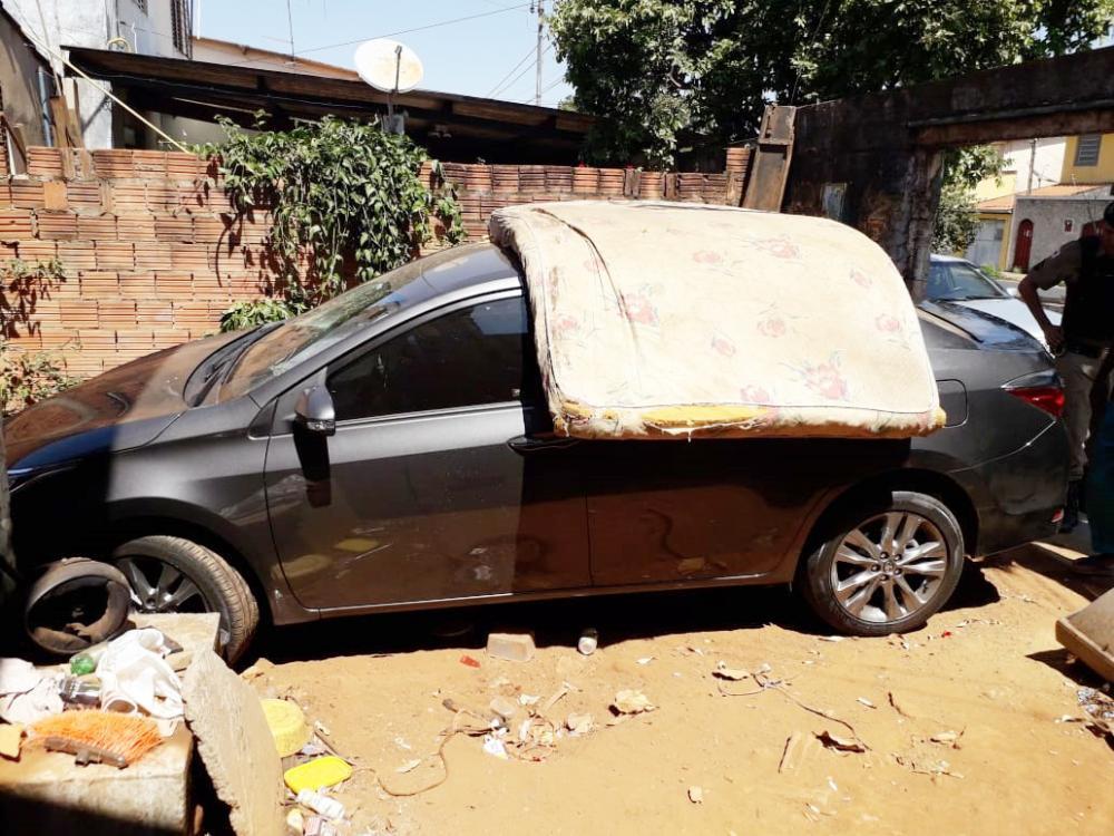 Veículo foi encontrado pela PM após denúncias anônimas - Foto: Juliano Carlos