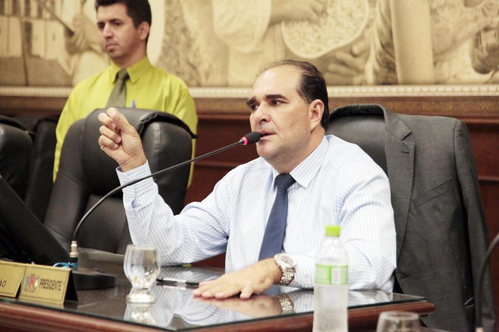 O presidente da Câmara, Ismar Marão, preside amanhã a solenidade de Mulher Destaque - Foto: Rodrigo Garcia/CMU