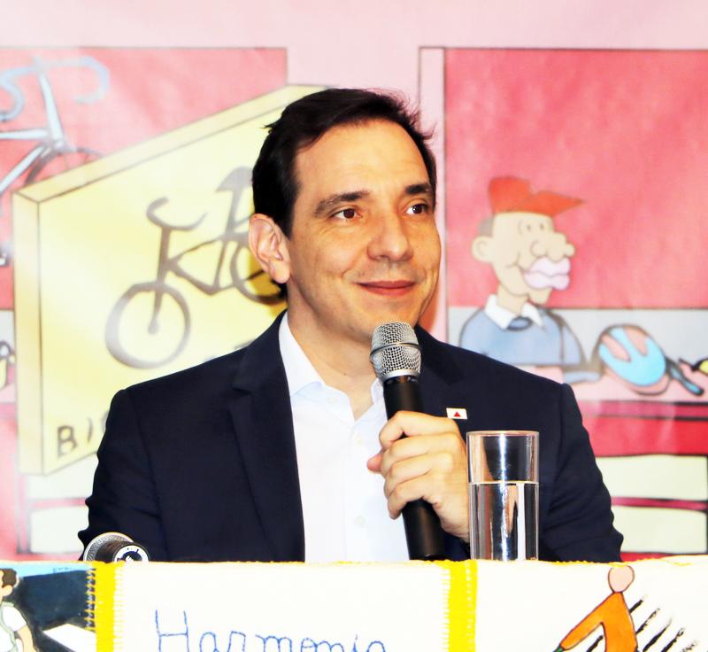O secretário de Infraestrutura e Mobilidade, Marco Aurélio Barcelos, enfatizou a importância do papel educador do Estado - Foto: Mario Chrispim/DEER)