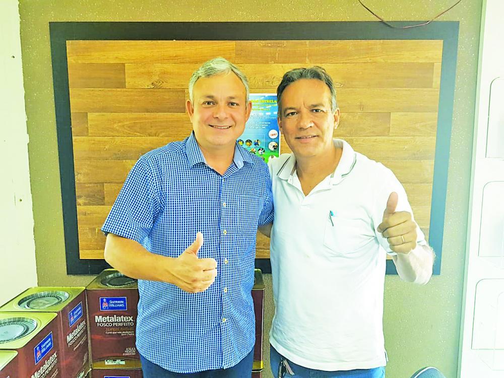 Edinho Silva e Edvilson Alves estão na organização do Jogo das Estrela de Futebol, hoje, em Conceição das Alagoas - Foto: Divulgação