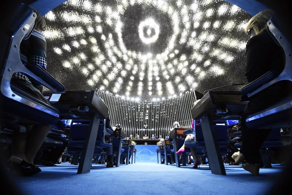 O plenário do Senado Federal onde a proposta será apreciada na próxima terça-feira (17) - Foto: Marcos Oliveira/Agência Senado