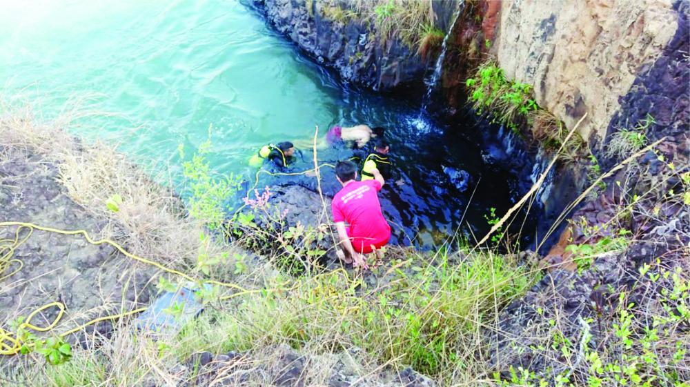 Corpo de Alcebiades foi resgatado por bombeiros - Foto: Juliano Carlos