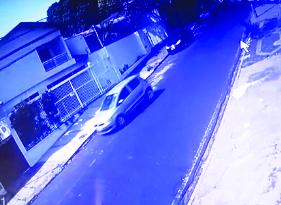 Veículo usado no crime foi flagrado por câmeras de segurança - Foto: Divulgação