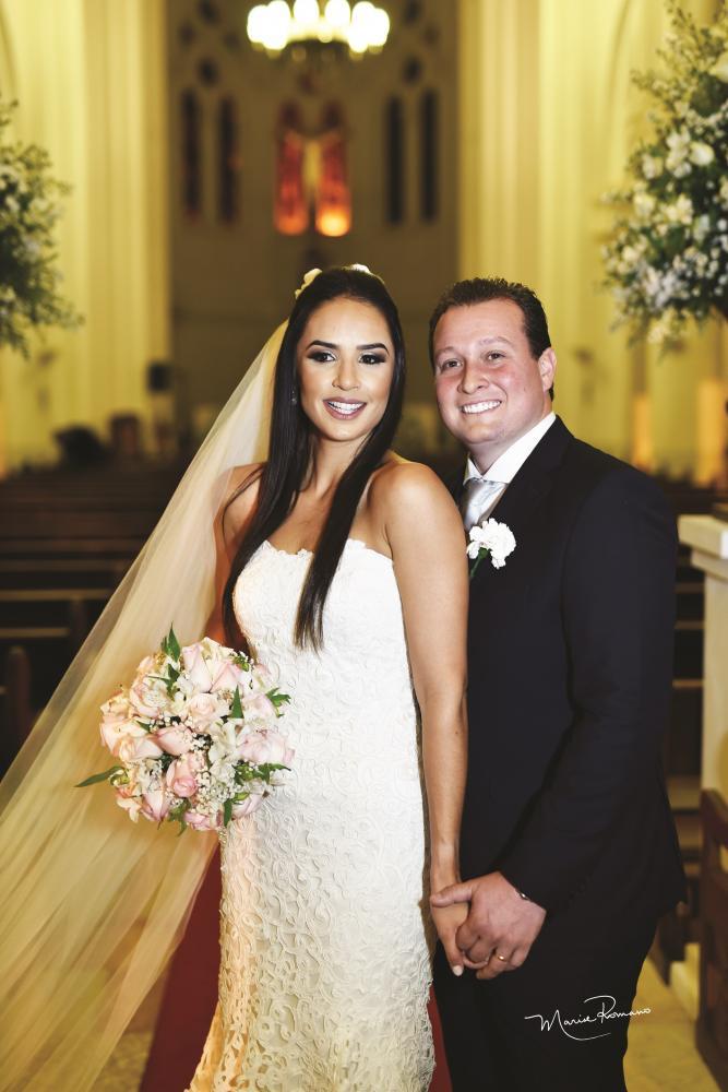 Ana Carolina Borges Leitão e Pedro Henrique da Silveira foram os festejados noivos do dia 27 de julho