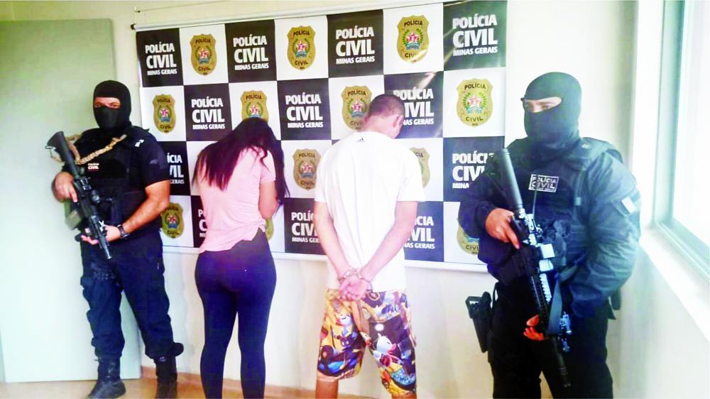 Casal foi preso na operação Muralha, da Polícia Civil - Foto: Juliano Carlos