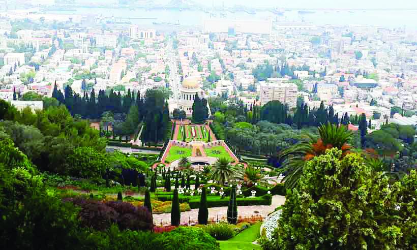 Em Haifa, jardins espetaculares se unem à cidade e ao mar - Foto: Gustavo Werneck/em/d.a press