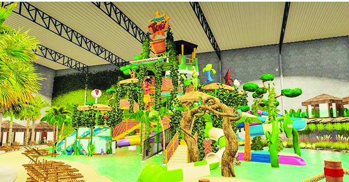 O Aquapark do Torí promete ser o sucesso da garotada - Foto: Divulgação