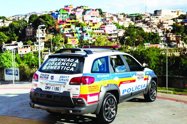 Patrulha busca a redução dos crimes violentos com motivação passional, sem deixar de lado o apoio às mulheres - Foto: Divulgação/PMMG