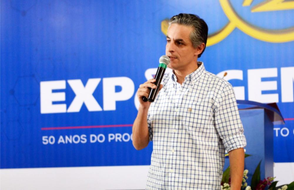 Eduardo Lunardelli Novaes durante palestra na ExpoGenética 2018 - Foto: Arquivo/ABCZ