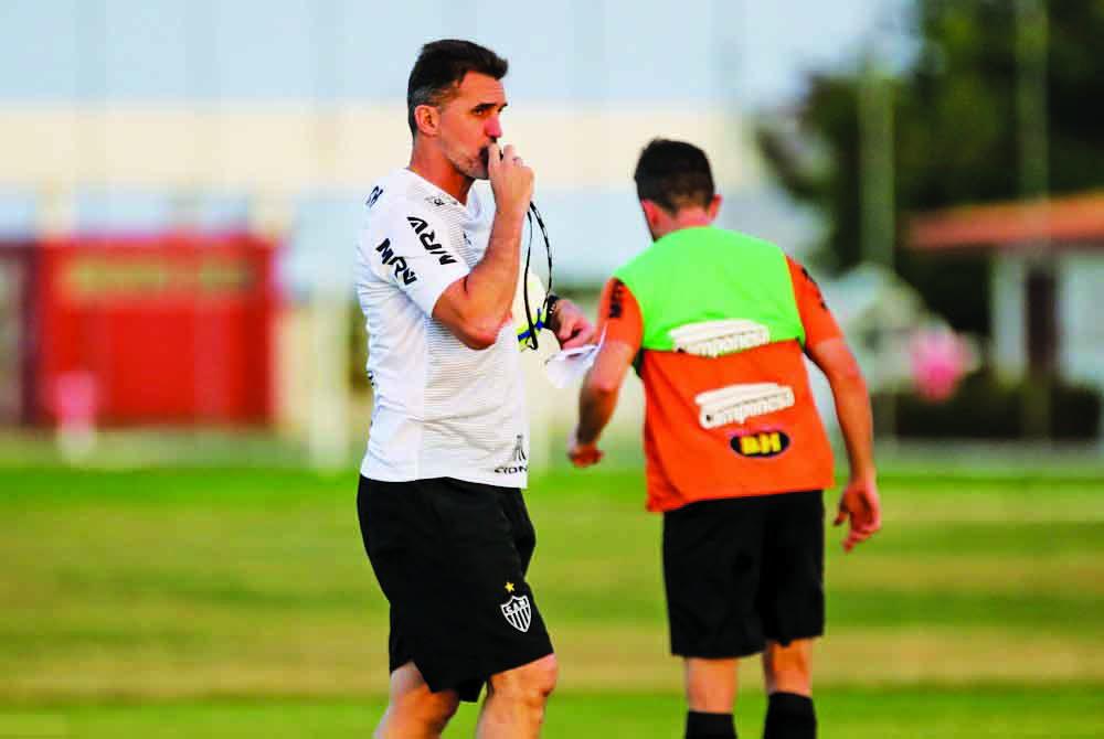 Vagner Mancini durante treino do Galo - Foto: Bruno Cantini/Atlético-MG