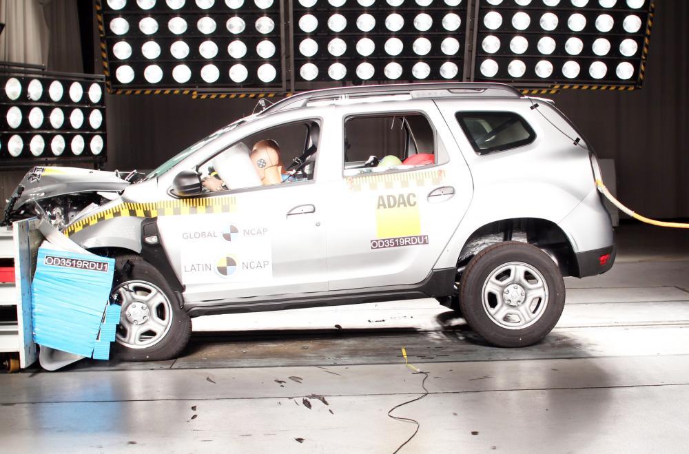 Renault Duster nos testes de colisão do Latin Ncap