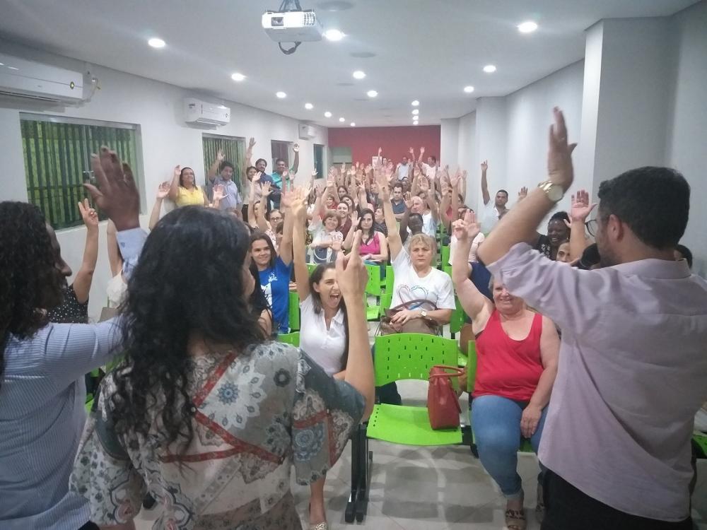 Assembleia do SSPMU para eleger membro do Conselho Municipal de Saúde e seus suplentes - Foto: Divulgação SSPMU