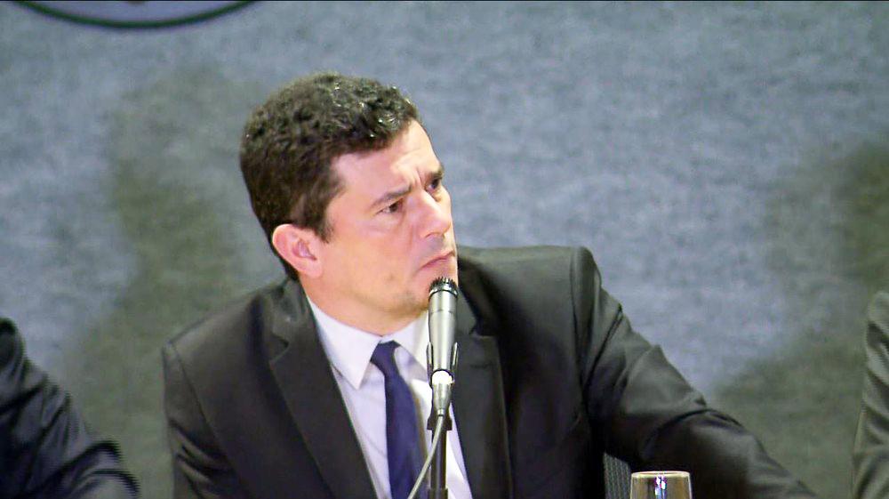 Ministro Sergio Moro foi perguntado sobre o caso da morte de Marielle Franco, durante evento na Polícia Federal - Foto: RPC/Curitiba