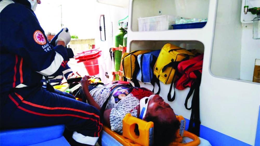 Vítima foi socorrida pelo Samu após o crime - Foto: Divulgação