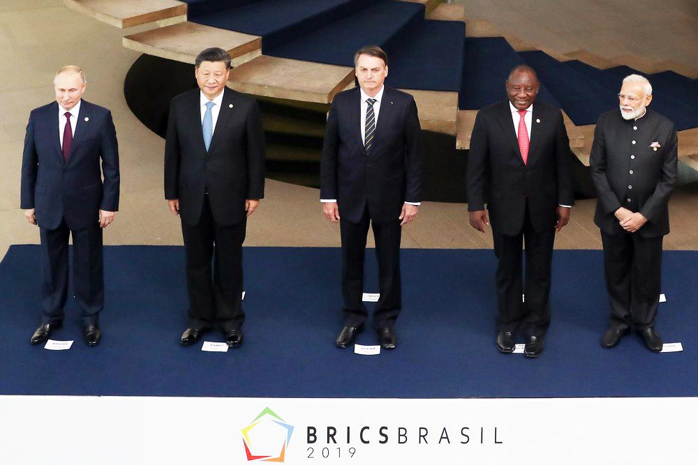 Líderes do Brics posaram para foto antes de reunião de cúpula no Palácio do Itamaraty - Foto: Marcos Corrêa/PR