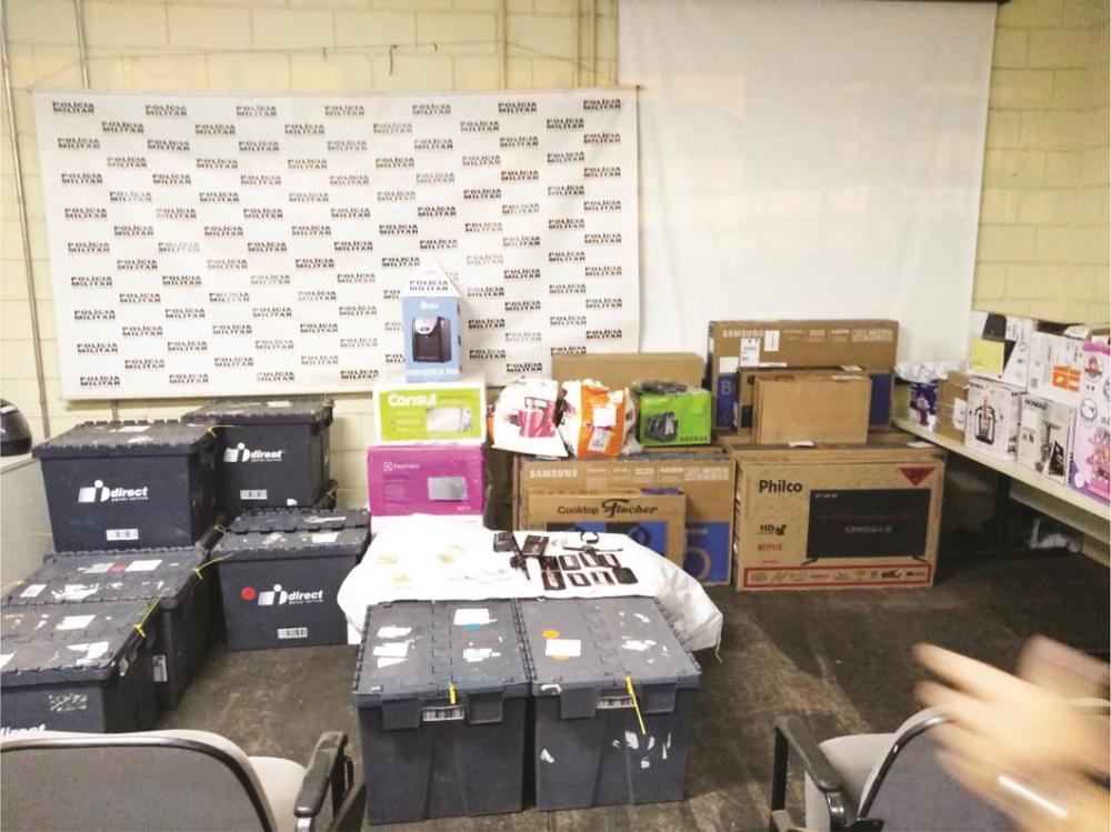Materiais roubados foram recuperados com os acusados - Fotos: Juliano Carlos