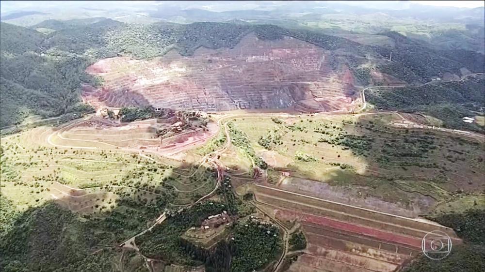 Barragem Sul Superior está em risco iminente de rompimento - Foto: Reprodução/TV Globo