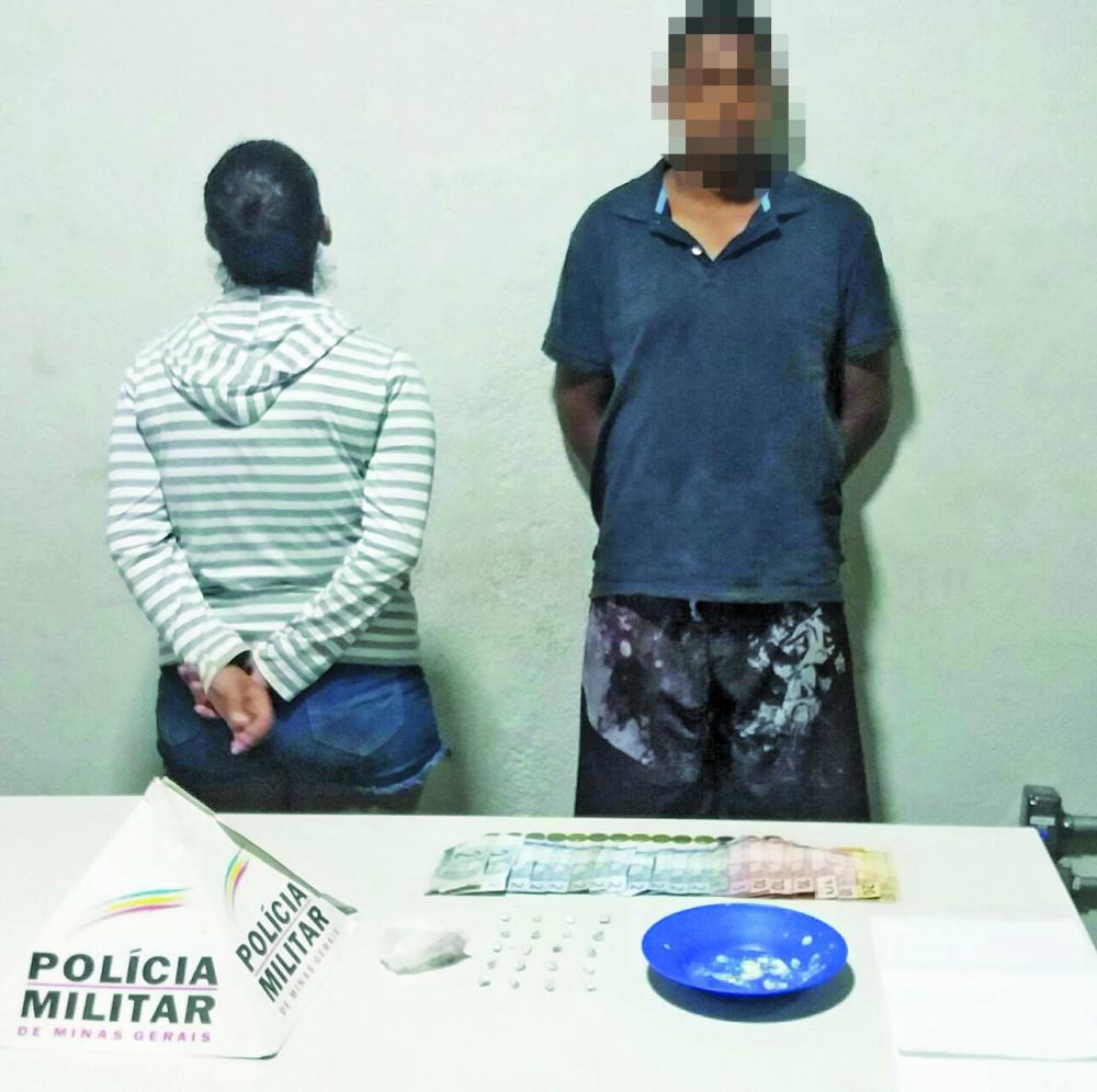 Casal foi detido pela PM no bairro Fabrício - Foto: Juliano Carlos