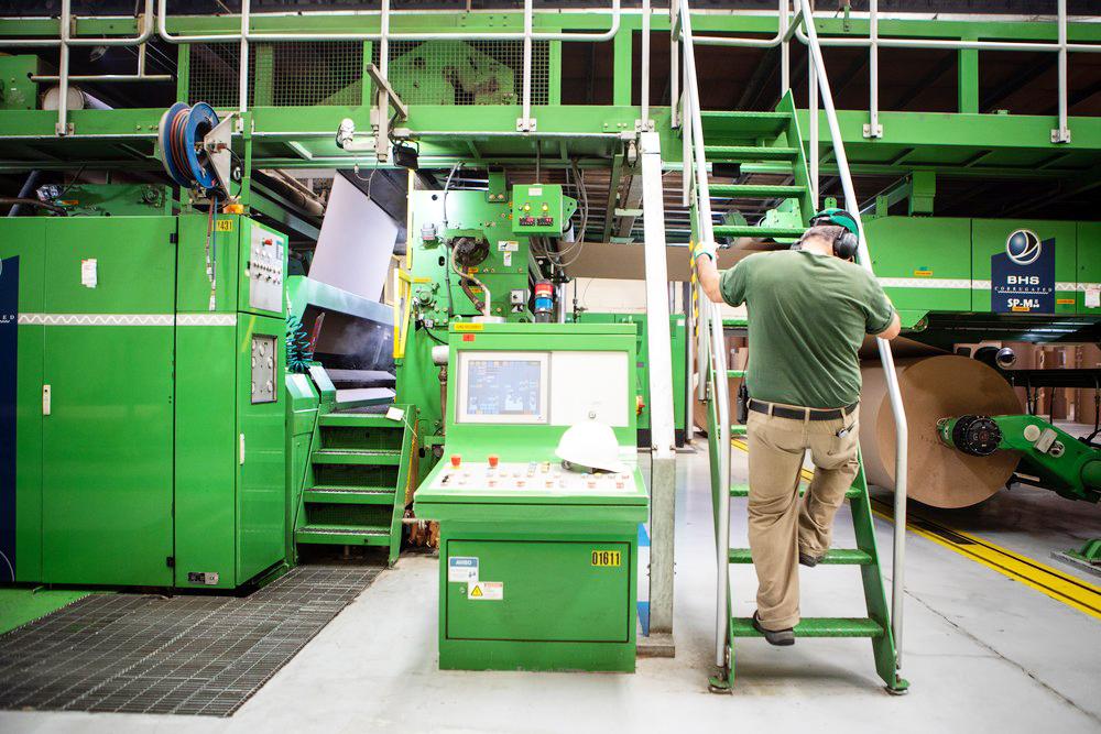 Fábrica de papelão ondulado para embalagens no interior de São Paulo - Fotos: Fabio Tito/G1