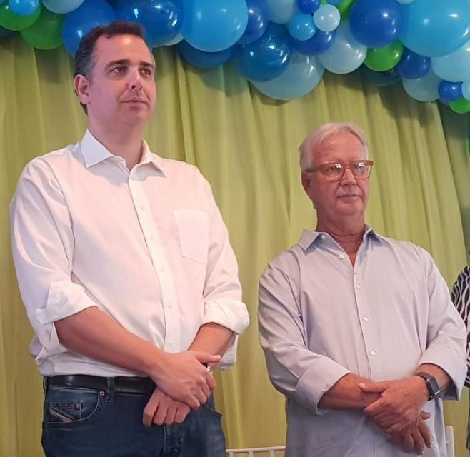Senador Rodrigo Pacheco, presidente do DEM de Minas Gerais, convoca Luiz Guaritá Neto para ser o candidato a prefeito - Foto: Divulgação