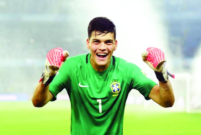 O goleiro da seleção brasileira sub-20, Gabriel Brazão, está confirmado no Futebol Solidário, realizado em 27 de dezembro (sexta-feira), no Uberabão - Fotos: Divulgação