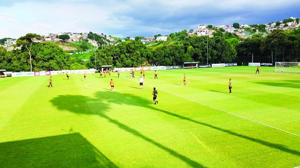 Última segunda-feira de treinos do Atlético-MG no ano tem Chará fora e Nathan em campo - Foto: Guilherme Frossard