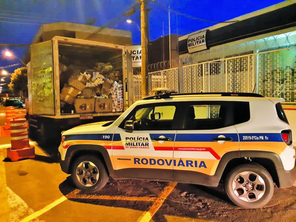 Carga foi apreendida durante operação em Iturama - Foto: Divulgação