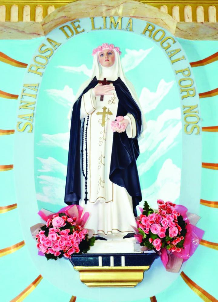 Santa Rosa de Lima será celebrada a partir do dia 16 deste mês