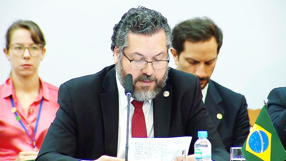 Ernesto Araújo, ministro das Relações Exteriores - Foto: Reprodução / RBS TV