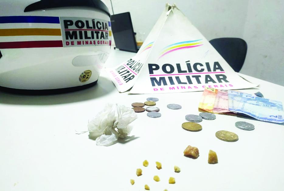 Acusado de tráfico de drogas é preso com pedras de crack, além de R$ 36,65 - Foto: Divulgação